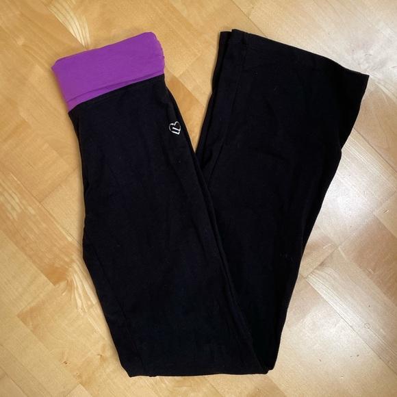 Aeropostale Black Flared Yoga Pants/Leggings